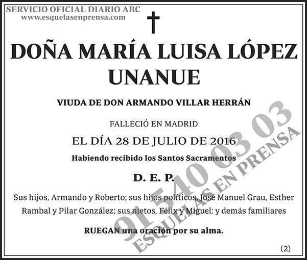 María Luisa López Unanue